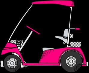 297x246 Pink Golf Cart Clip Art