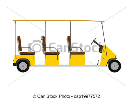 450x337 Silhouette Of Golf Cart Or Other Electric Vehicle Isolated