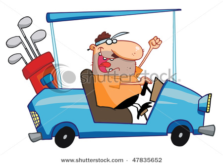 450x334 Picture Of A Happy Man Driving A Golf Cart In A Vector Clip Art