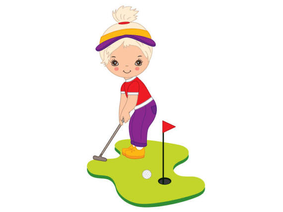 570x428 Girl Playing Golf Golf Clipart, Explore Pictures