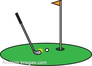300x215 Clip Art Illustration Of A Golf Putting Green