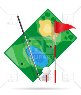 344x400 Field For Golf Icon Royalty Free Vector Clip Art Image