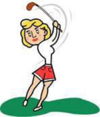 326x380 Golf Course Clipart Women S Pencil And In Color Clip Art Free