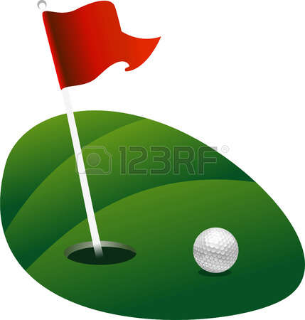 429x450 Golf Course Clipart Golf Flag