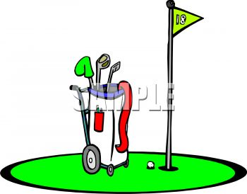 350x274 Royalty Free Clip Art Image Golf Bag
