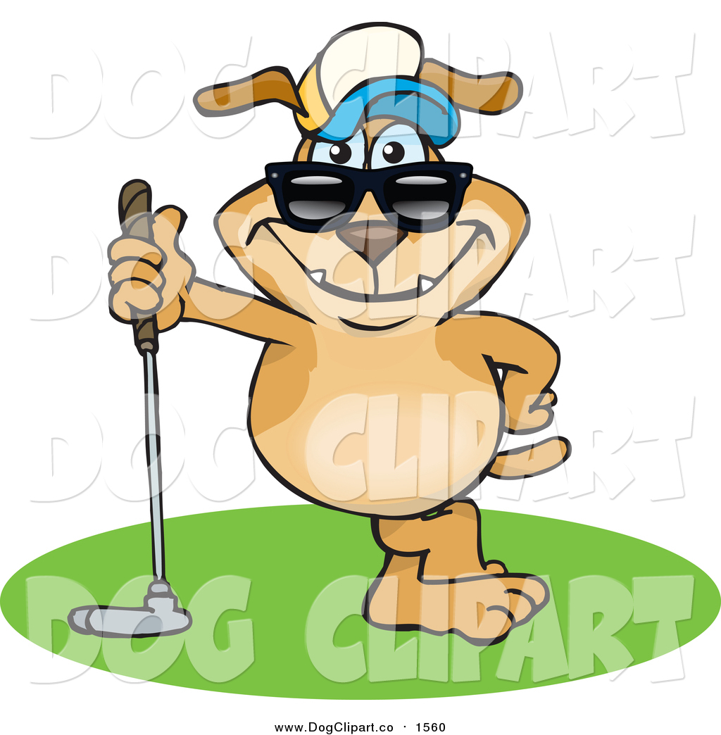 1024x1044 Vector Cartoon Clip Art Of A Sporty Dog Leaning On A Golf Club By