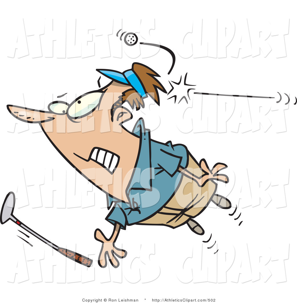 1024x1044 Clip Art Of A Male Golfer Being Hit In The Head By A Golf Ball By