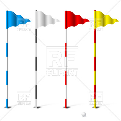 400x400 Flags Of The Golf Course Royalty Free Vector Clip Art Image