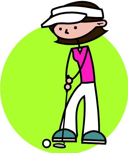 444x531 Ladies Golf Clipart