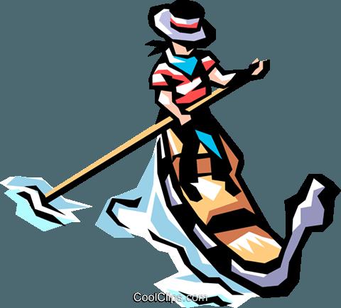 480x434 Gondola In Venice Royalty Free Vector Clip Art Illustration