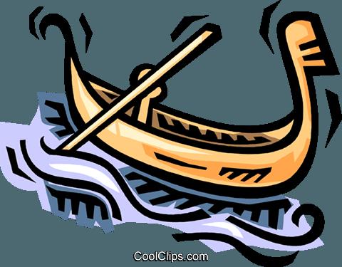 480x375 Gondola Royalty Free Vector Clip Art Illustration Vc064490