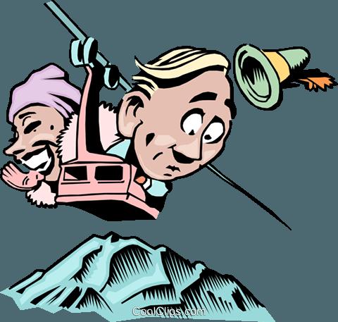 480x457 Cartoon Gondola Ride Royalty Free Vector Clip Art Illustration