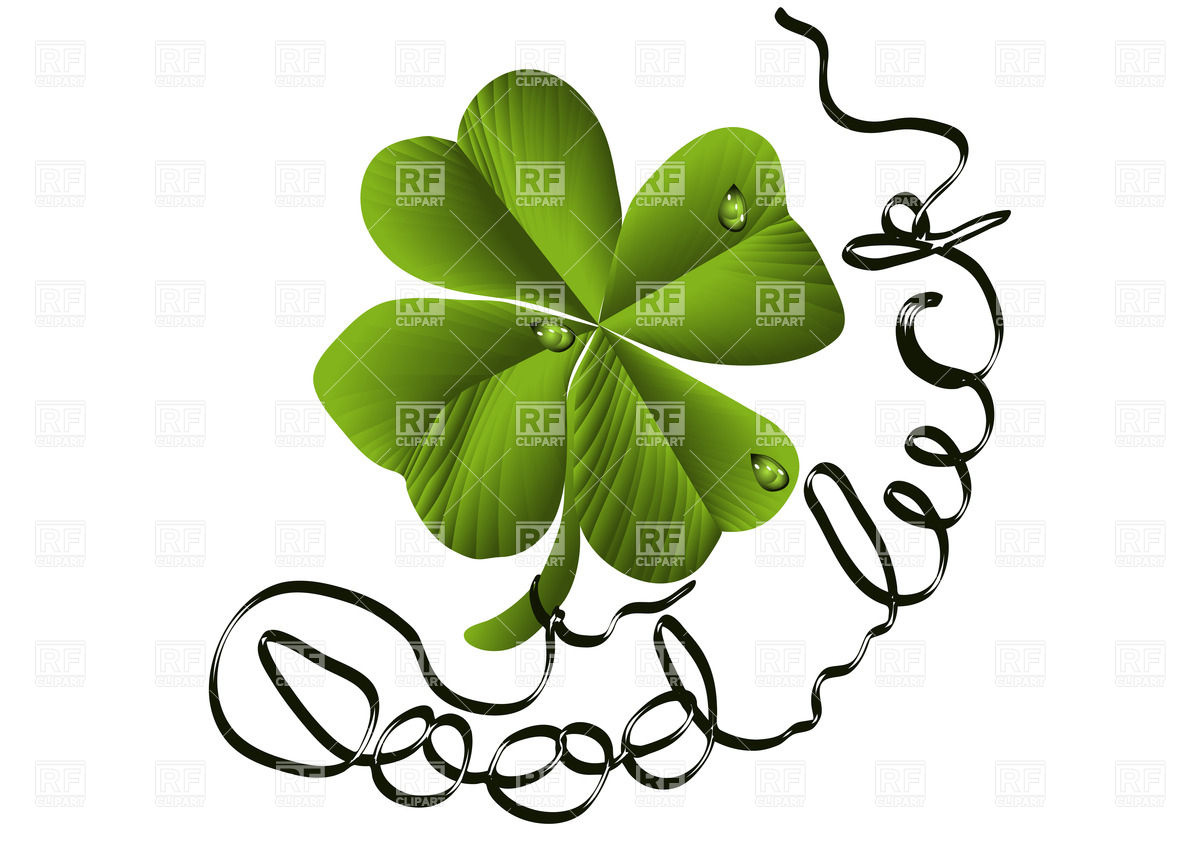 1200x849 Shamrock With Good Luck Wishes Royalty Free Vector Clip Art Image