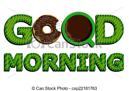 450x320 Free Good Morning Clipart Good Morning Coffee And Donuts Vector