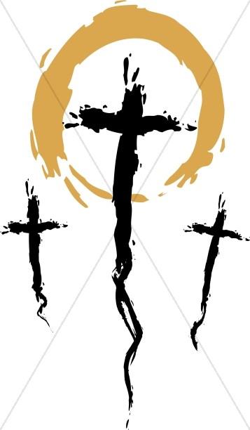 357x612 Three Crosses On Good Friday Cross Clipart