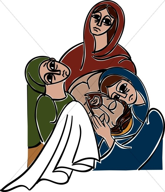 527x612 Three Women Weeping For The Messiah Good Friday Clipart