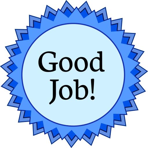 512x512 Award Medal Blue Good Job