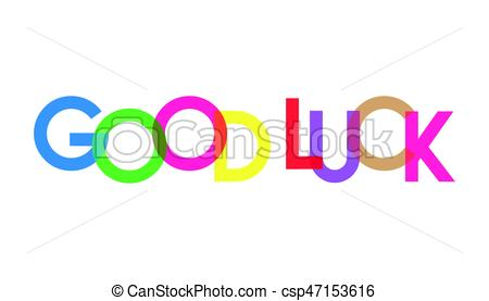 450x277 Good Luck Managemant Full Color Background Vector Clip Art