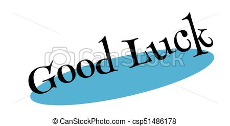 450x246 Good Luck Rubber Stamp. Grunge Design With Dust Scratches