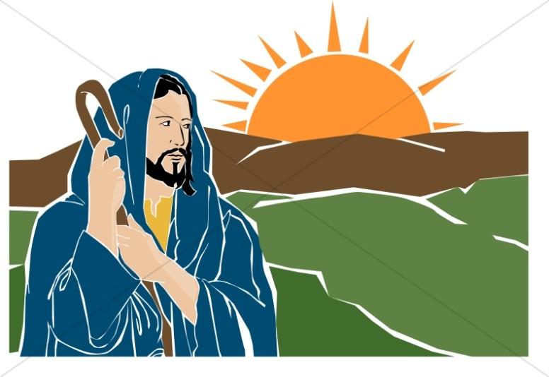 776x534 Jesus The Good Shepherd With Sunrise Jesus Clipart