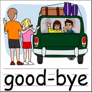 304x304 Clip Art Basic Words Good Bye Color Labeled I