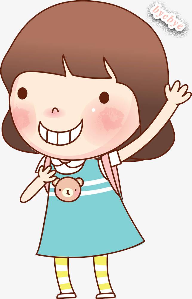 643x1000 Wave Goodbye, Cartoon Girl, Cartoon Girl, Wave Goodbye, Bye Png