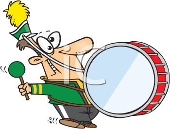 350x266 Royalty Free Clip Art Image Cartoon Of A Goofy Guy In A Marching Band