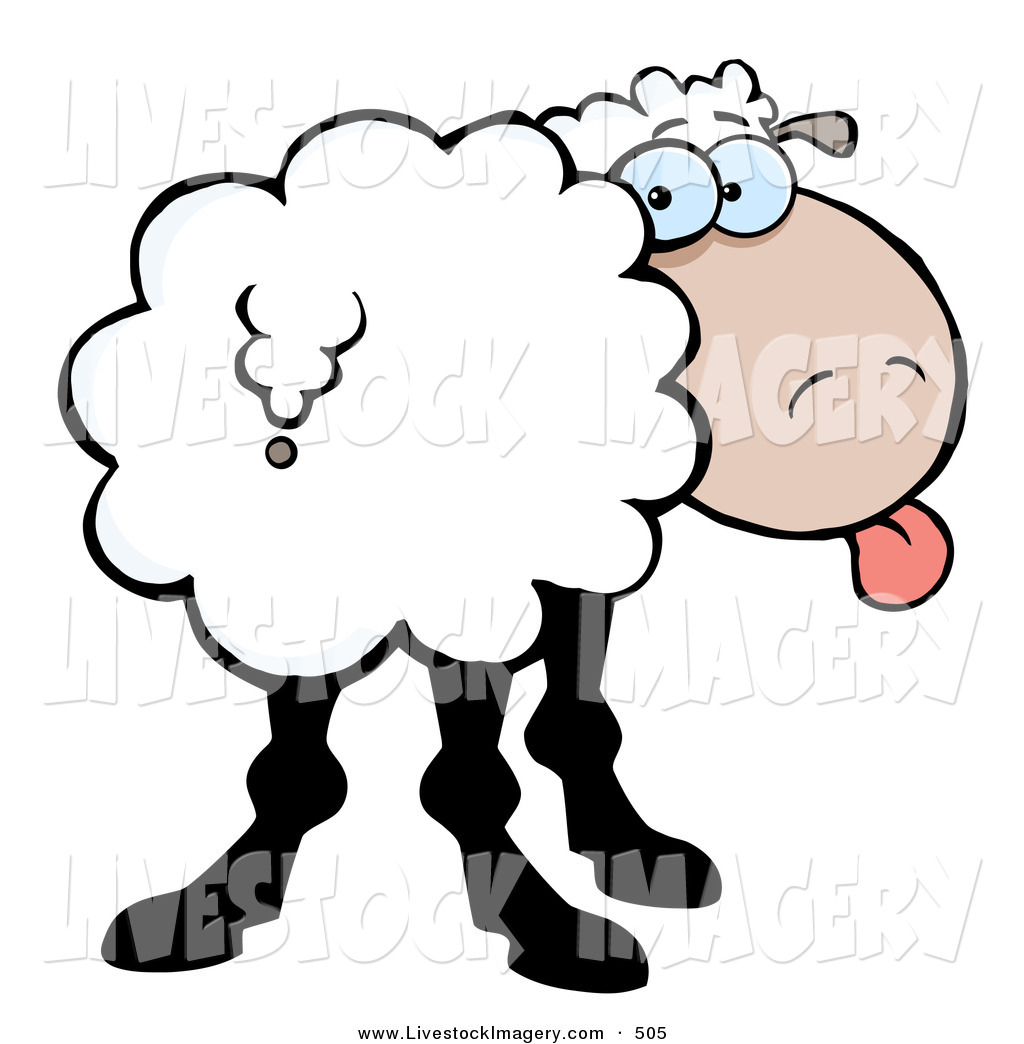 1024x1044 Clip Art Of A Cute Goofy Sheep Sticking Its Tongue Out