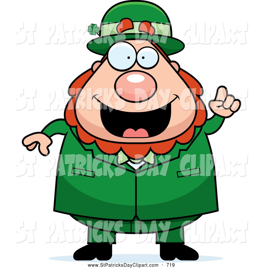 1024x1044 Clip Art Of A Goofy Excited Happy Leprechaun Cartoon Character