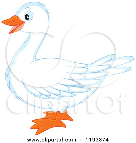450x470 Royalty Free Clip Art Illustration Of A White Goose By Alex