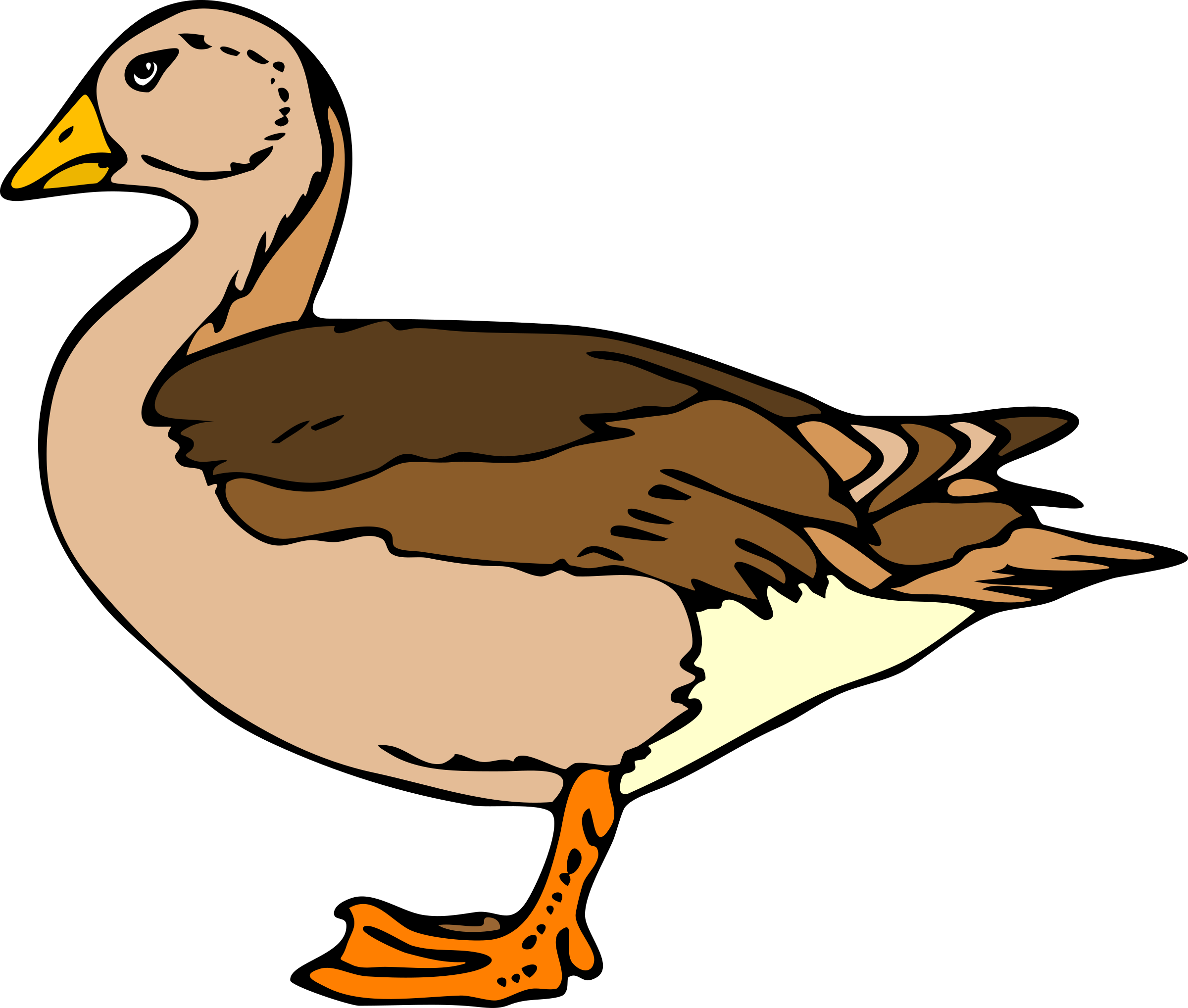 2400x2037 Duck Clip Art Image Free