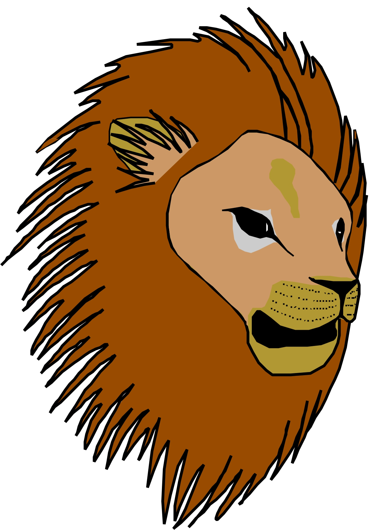 1200x1705 Lion Head Bmp Color Clipart