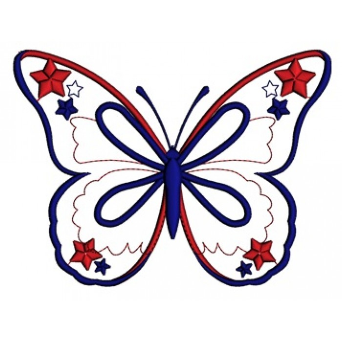 700x700 Butterfly Clipart 4th July