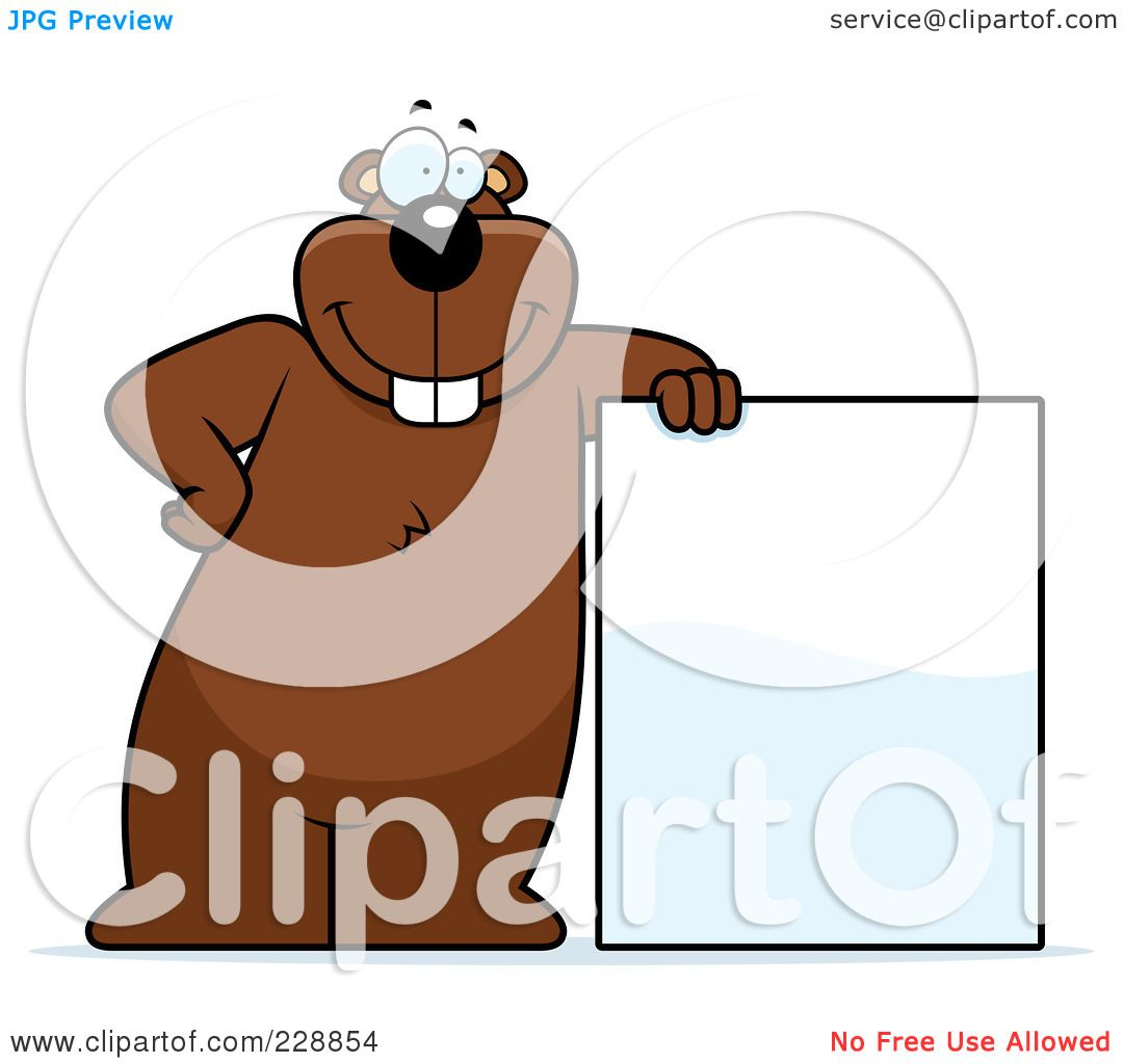 1080x1024 Royalty Free (Rf) Clipart Illustration Of A Gopher Leaning Against