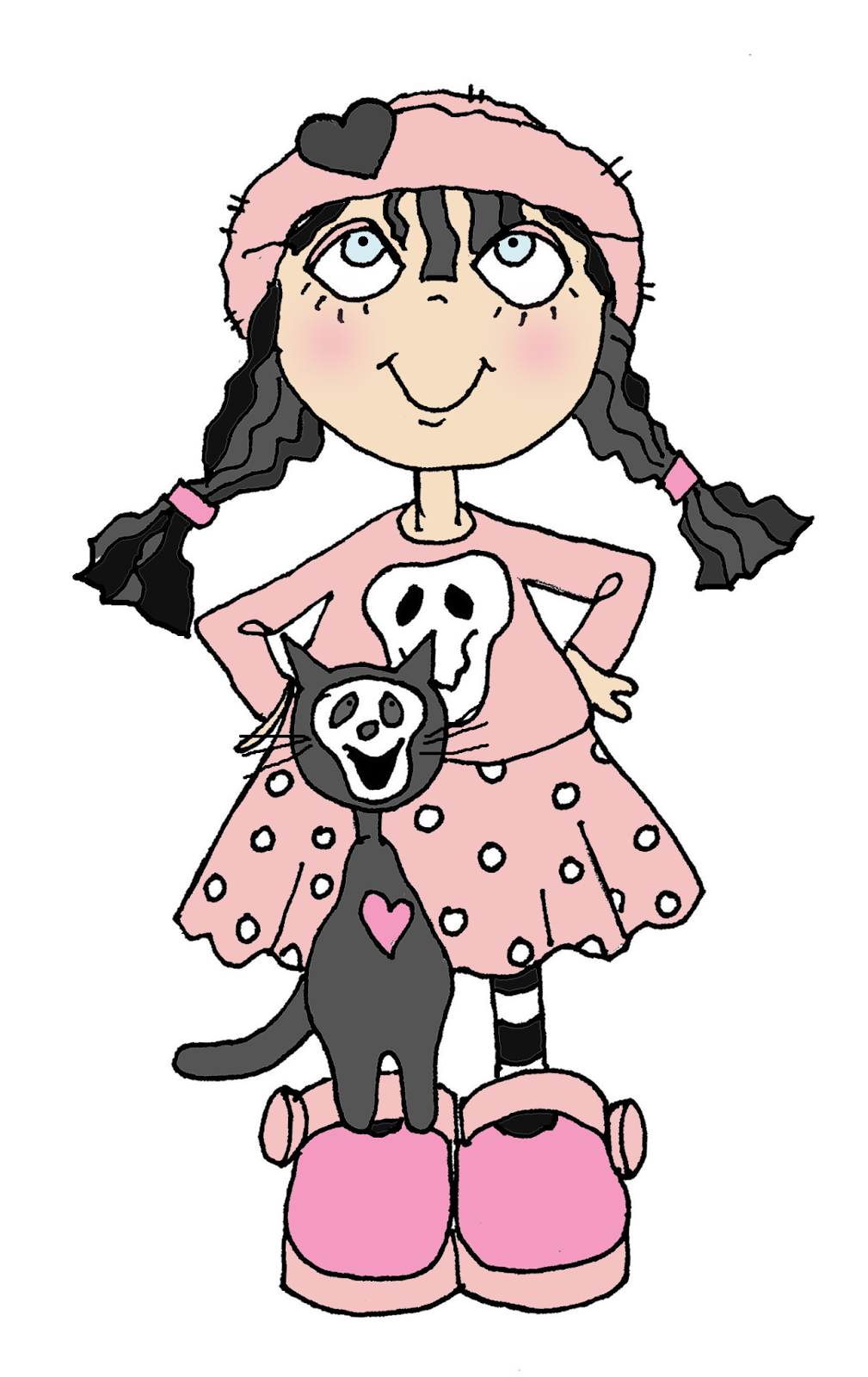 1009x1600 Free Dearie Dolls Digi Stamps Little Goth Girl Halloween