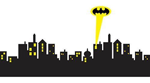 500x278 Gotham City Skyline Batman Decal Wall Sticker Home Decor Art C430
