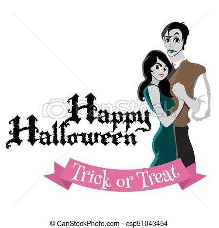 450x470 Halloween Gothic Party With Vampire Couple, Fun Background