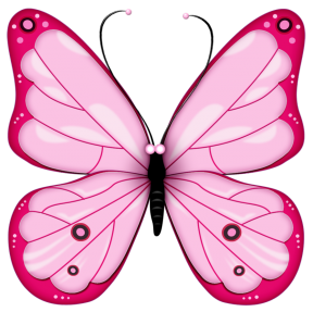 288x287 Gothic Single Butterfly Clipart