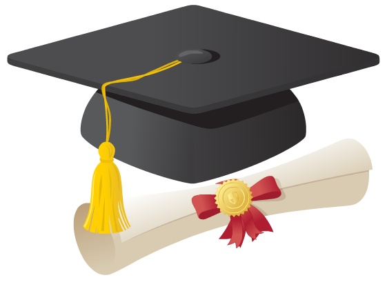 561x409 Cap And Gown Diploma Clipart