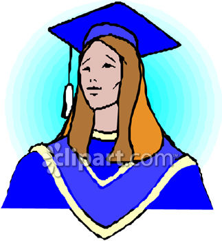 323x350 Graduate Wearing A Cap And Gown Clipart