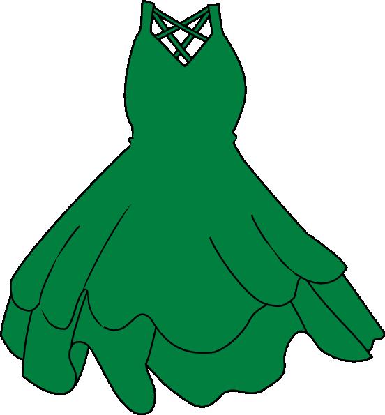 552x595 Green Dress Clip Art