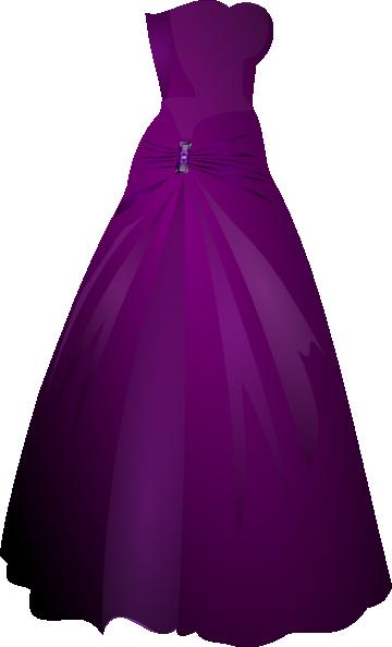 360x594 Purple Gown Clip Art