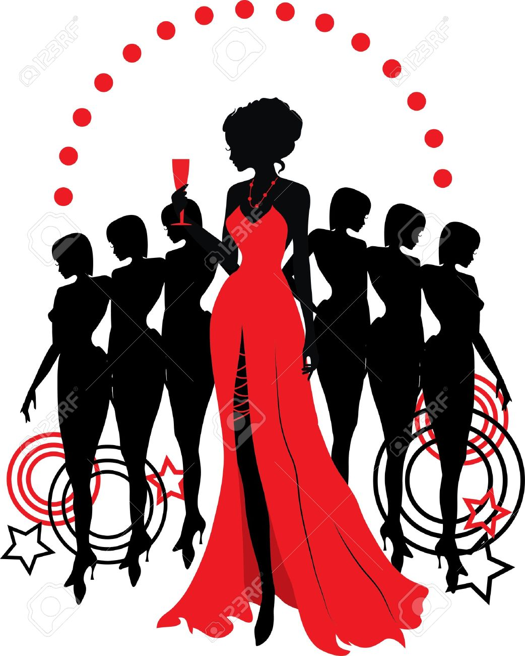 1042x1300 Women Dress Silhouette Clip Art Fashion Dresses
