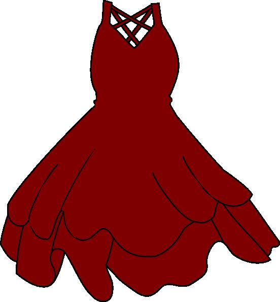 552x595 Burgandy Dress Clip Art