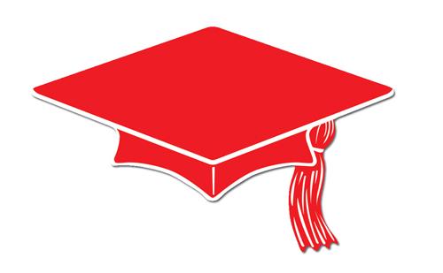 500x309 Red Graduation Cap Clip Art Clipart