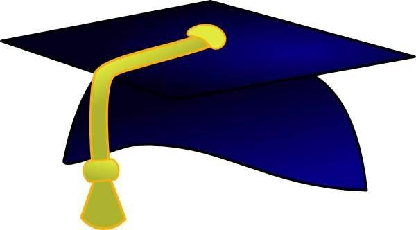 600x332 Blue Graduation Hat And Gold Tassels Clipart