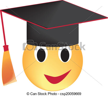 450x398 Graduate. Smile In The Graduation Cap Isolated On White, Clip