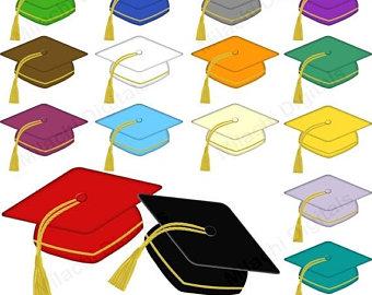 340x270 50% Off Graduation Caps Clipart Graduation Hats Clip Art