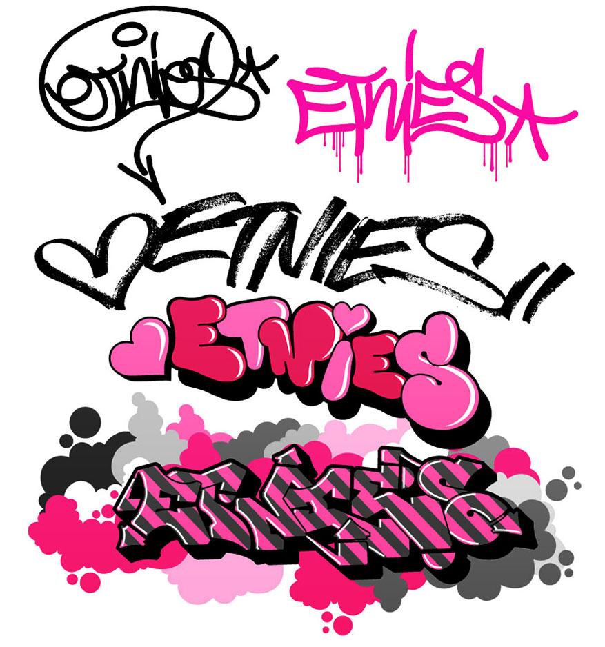 877x938 Custom Graffiti Letters Graffiti Clipart 5