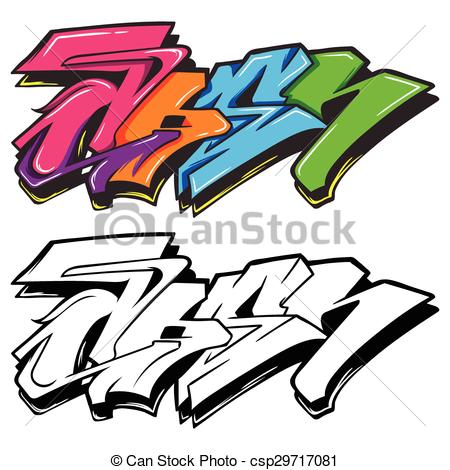 450x470 A Cute Cartoon Colorful Graffiti Can Use As Background Vector